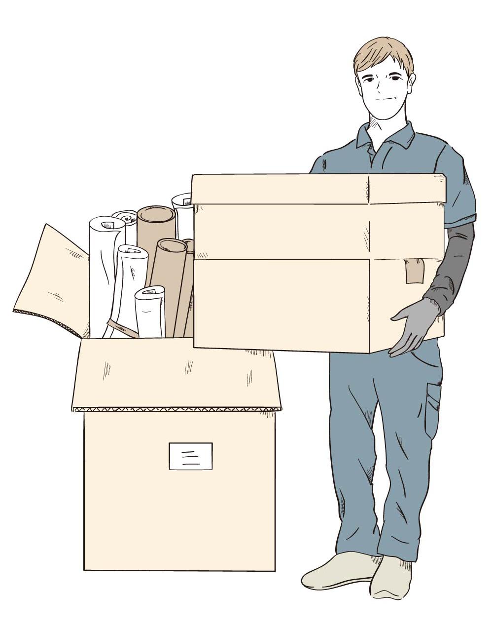 倉庫、工場、オフィスからの大量の廃棄物搬出・処分